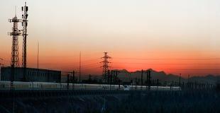 Treno espresso ferroviario della Cina Immagine Stock