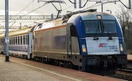 Treno espresso Varsavia-Berlino Immagine Stock