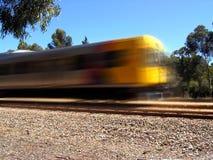 Treno esterno fotografia stock libera da diritti