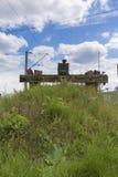 Treno - estremità della ferrovia Fotografie Stock Libere da Diritti