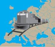 Treno in Europa illustrazione vettoriale
