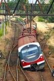 Treno fatto deragliare Fotografia Stock Libera da Diritti