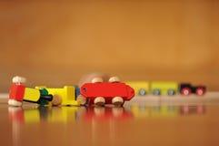 Treno fatto deragliare del giocattolo Fotografia Stock