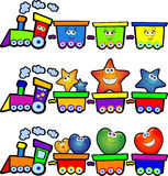 Treno felice Fotografia Stock