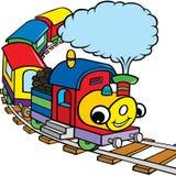 Treno felice per i bambini Immagini Stock