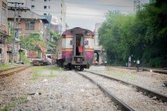Treno ferroviario tailandese Fotografia Stock
