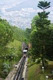 Treno funicolare della collina di Penang Fotografia Stock