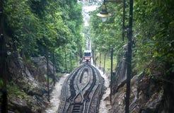 Treno funicolare della collina di Penang Immagine Stock Libera da Diritti