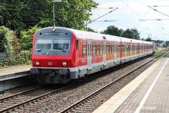 Treno in Germania Fotografie Stock Libere da Diritti