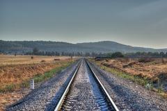 Treno Hdr della ferrovia Fotografia Stock