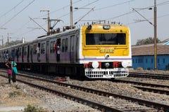 Treno indiano Fotografie Stock