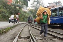 Treno indiano del giocattolo Immagine Stock