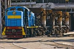 Treno industriale Fotografie Stock Libere da Diritti