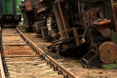 Treno invertito Fotografia Stock Libera da Diritti