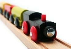 Treno isolato del giocattolo Immagini Stock