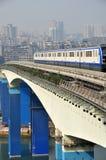 Treno leggero della ferrovia Fotografia Stock Libera da Diritti