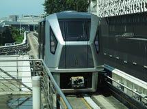 Treno leggero della ferrovia a Singapore Fotografia Stock