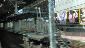 Treno locale a Tokyo stock footage