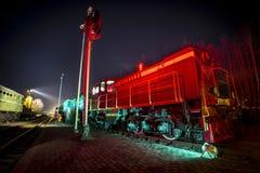 Treno locomotivo sovietico fotografie stock