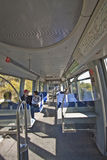 Treno lungo di Monaco di Baviera U-bahn Fotografie Stock