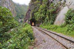 Treno a Machu Picchu immagine stock