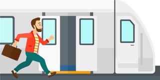 Treno mancante dell'uomo Immagini Stock Libere da Diritti