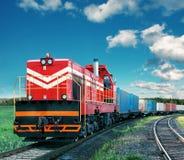 Treno merci Fotografia Stock Libera da Diritti