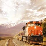 Treno merci. immagini stock