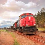 Treno merci Fotografie Stock Libere da Diritti