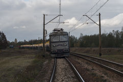 Treno merci Immagine Stock