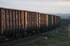 Treno merci Immagini Stock