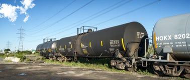 Treno merci dell'olio fotografia stock