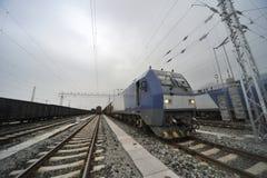 Treno merci di HeXie di cinese Fotografie Stock