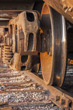 Treno merci e pista immagine stock