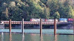 Treno merci nazionale canadese (CN) Immagine Stock