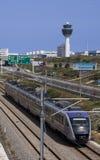 Treno moderno a Atene Fotografia Stock Libera da Diritti