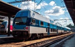 Treno moderno della città Immagini Stock Libere da Diritti