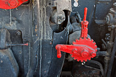 Treno molto vecchio del vapore Immagini Stock Libere da Diritti