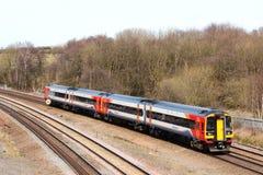 Treno multiplo diesel della classe 158 di east midlands Fotografia Stock Libera da Diritti