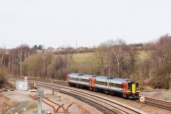 Treno multiplo diesel della classe 158 di east midlands Immagine Stock Libera da Diritti