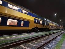 Treno nei Paesi Bassi Fotografie Stock