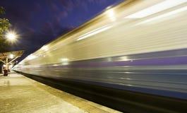 Treno nel moto Fotografia Stock Libera da Diritti