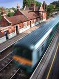 Treno nella stazione Fotografia Stock