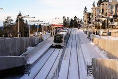 Treno norvegese della metropolitana Immagini Stock