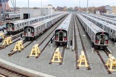 7 treno NYC Immagini Stock Libere da Diritti
