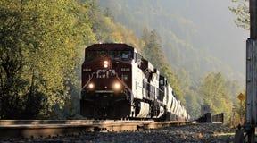 Treno pacifico canadese (CPR) fotografie stock