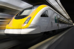 Treno passeggeri Immagine Stock