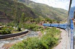 Treno - Perù Immagine Stock