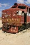 Treno perso nel deserto Fotografia Stock