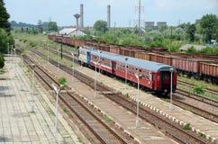 Treno rosso Fotografia Stock Libera da Diritti
